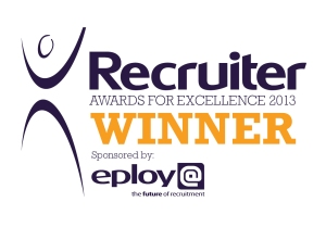 Recruiter Awards 2013 winners logo